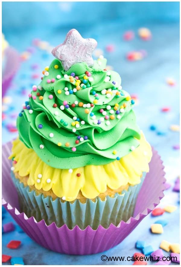 easy christmas tree cupcakes 2