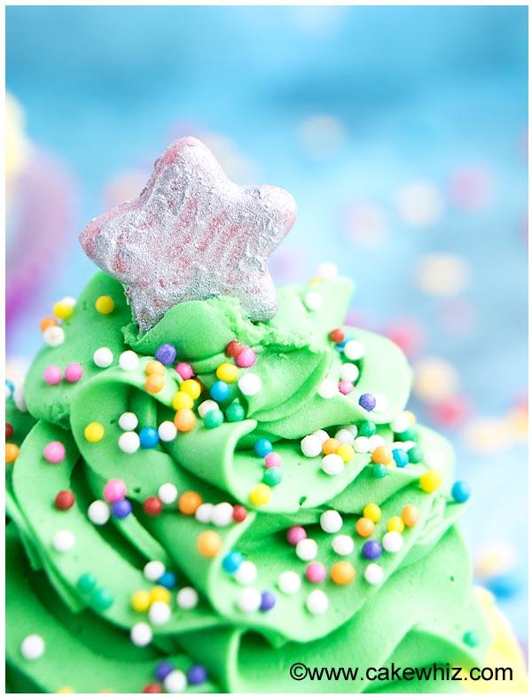 easy christmas tree cupcakes 3