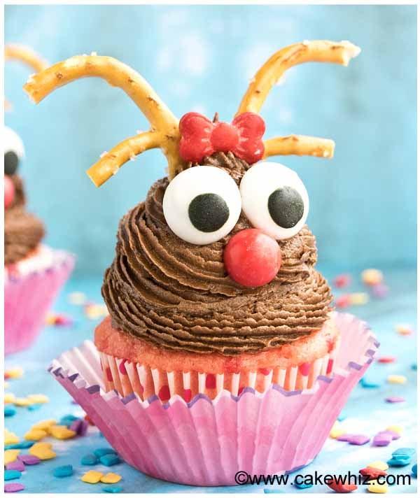 easy rudolph cupcakes