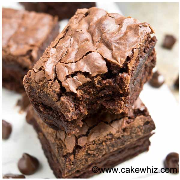 fudgy brownies with crackly tops