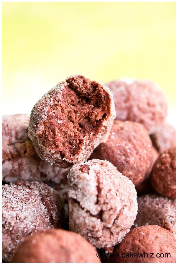 sugar free red velvet crinkle cookies 4