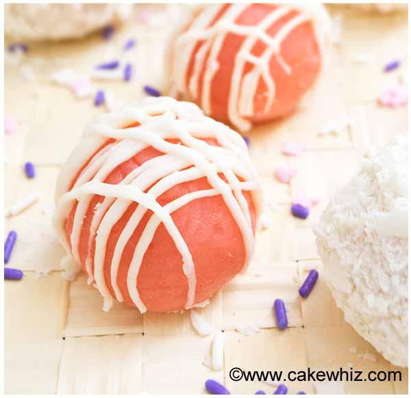 pink velvet cake truffles