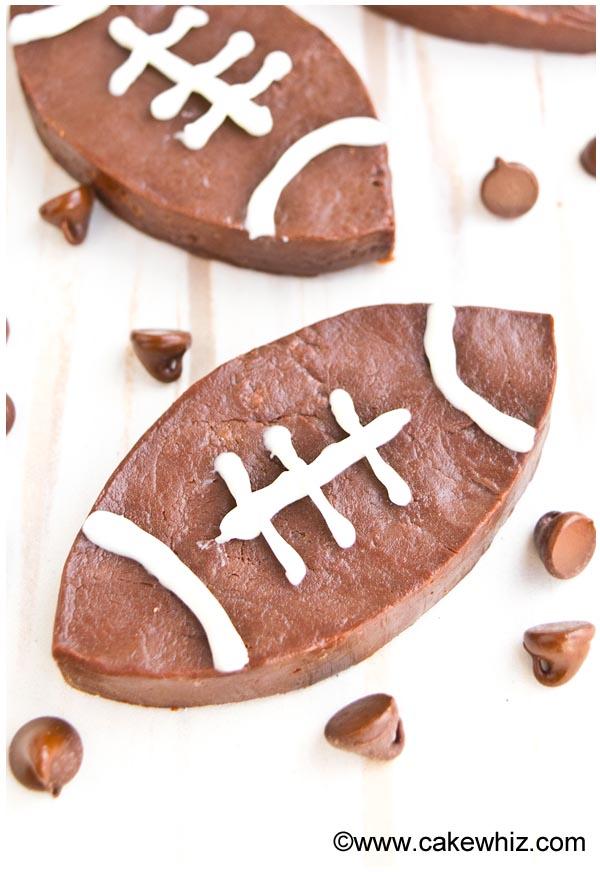spicy chocolate fudge footballs 3