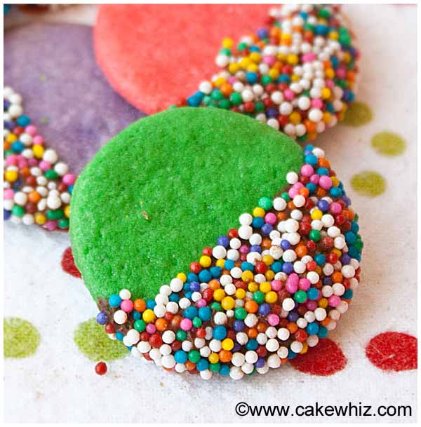 crispy rainbow sugar cookies
