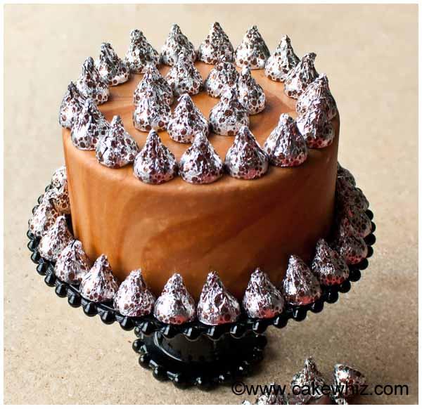 hershey's kisses cake
