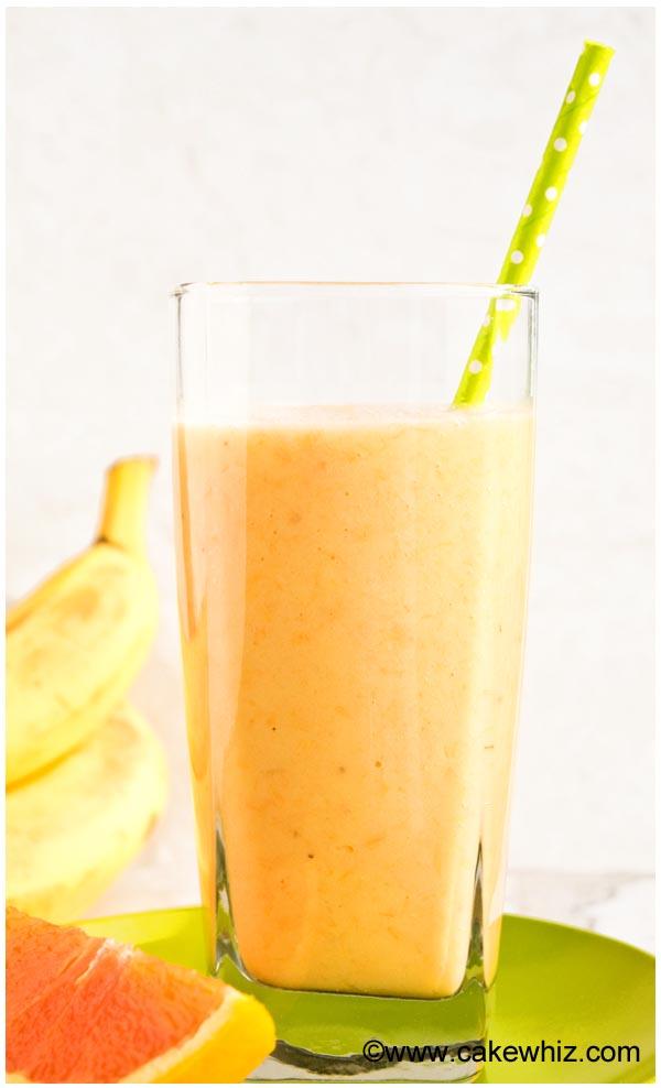 banana orange mango smoothie
