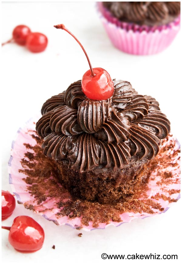 chocolate cherry cupcakes 6