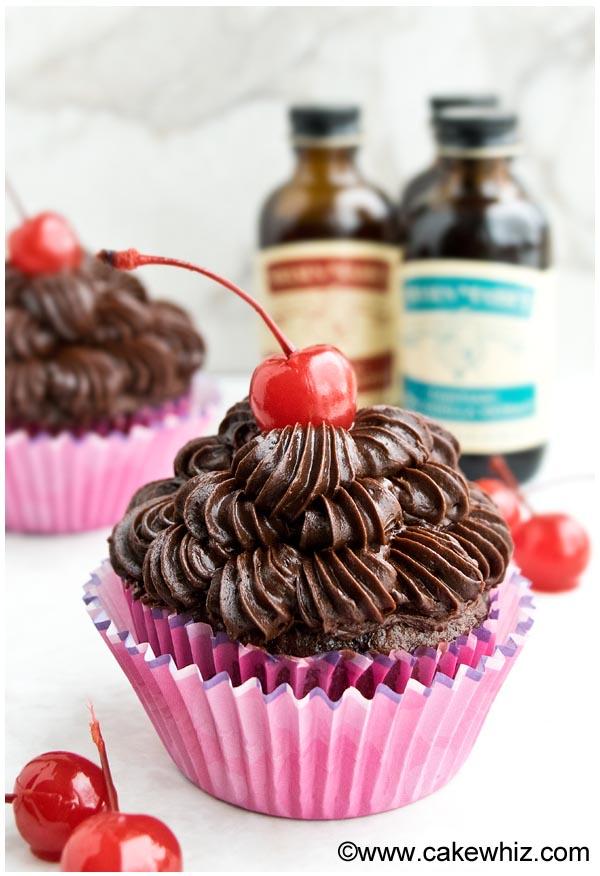 Chocolate Cherry Cupcakes, Two Ways Recipe — Dishmaps