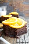 dark chocolate orange brownies 1