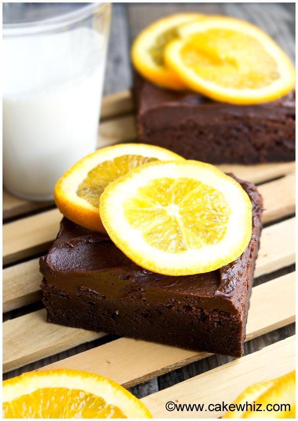 dark chocolate orange brownies 2
