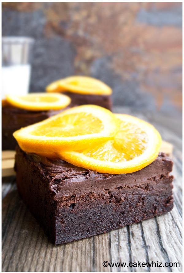 dark chocolate orange brownies 6