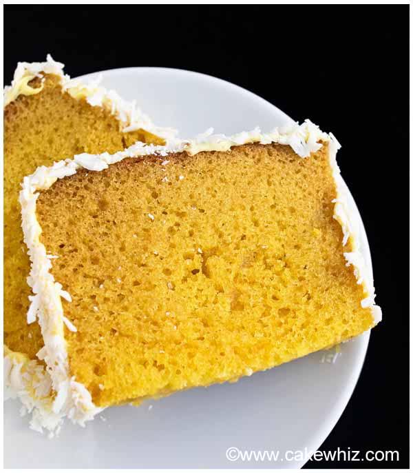 mango cake with mango frosting