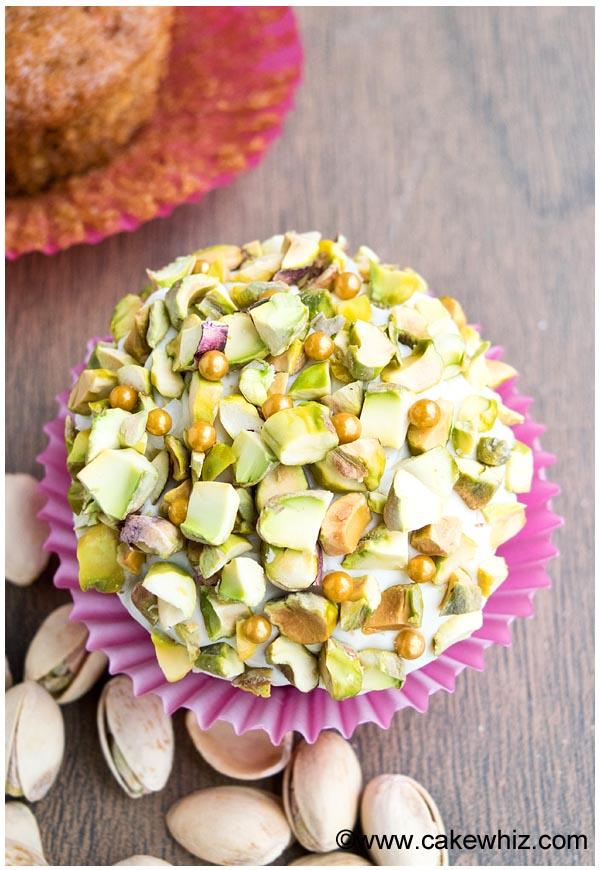 pistachio carrot cupcakes 4