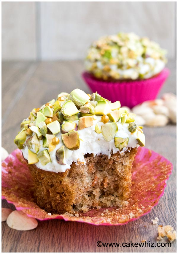 pistachio carrot cupcakes 6