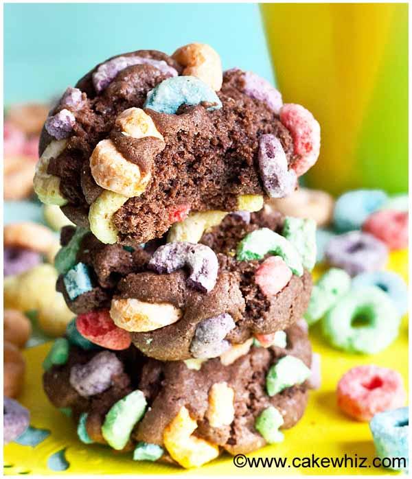 rainbow fruit loops cookies