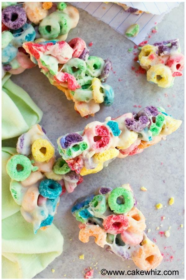 rainbow fruit loops marshmallow bars 4