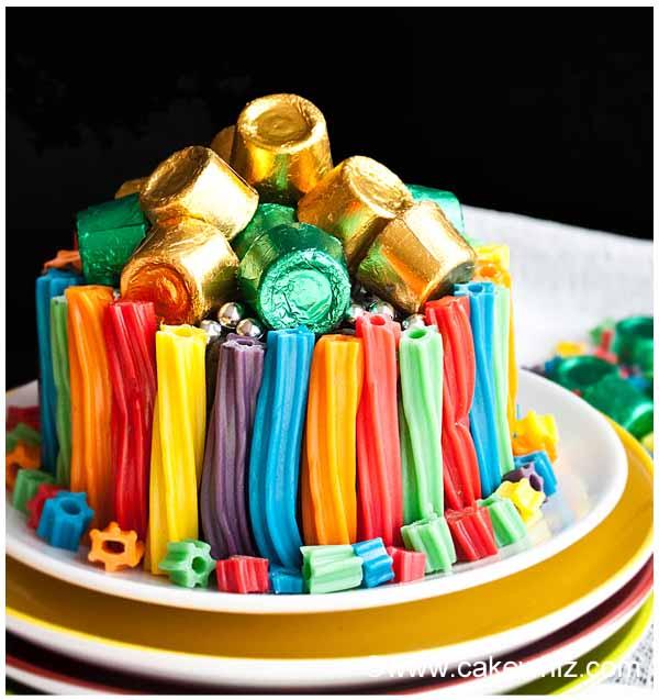 rainbow twizzler cake