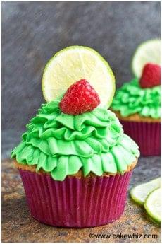 raspberry lime cupcakes 1