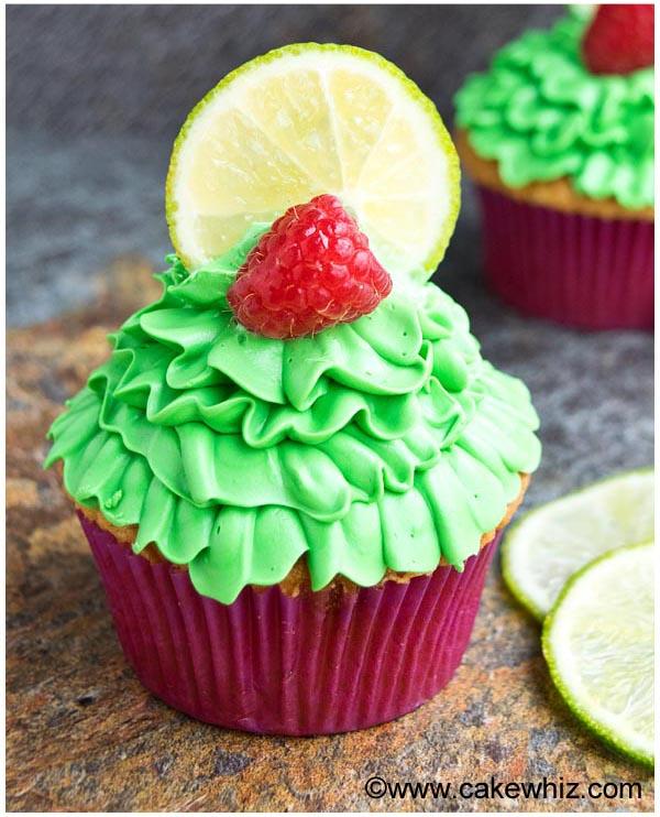 raspberry lime cupcakes 14