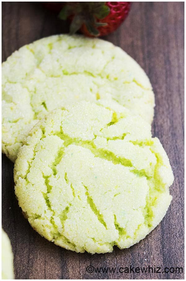 These ZESTY key lime sugar cookies have an amazing CRACKLY and crinkly ...