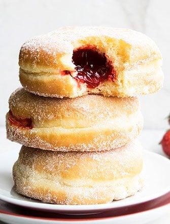 Easy Jelly Doughnuts Recipe (Sufganiyot)