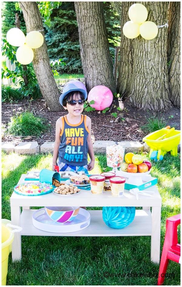 Backyard Kids Summer Party - CakeWhiz