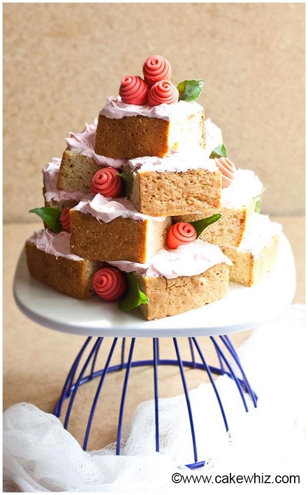 easy cake tower 1
