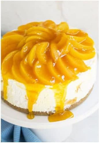 No Bake Peach Cheesecake