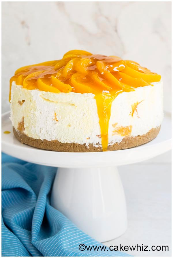 no bake peach cheesecake recipe 4