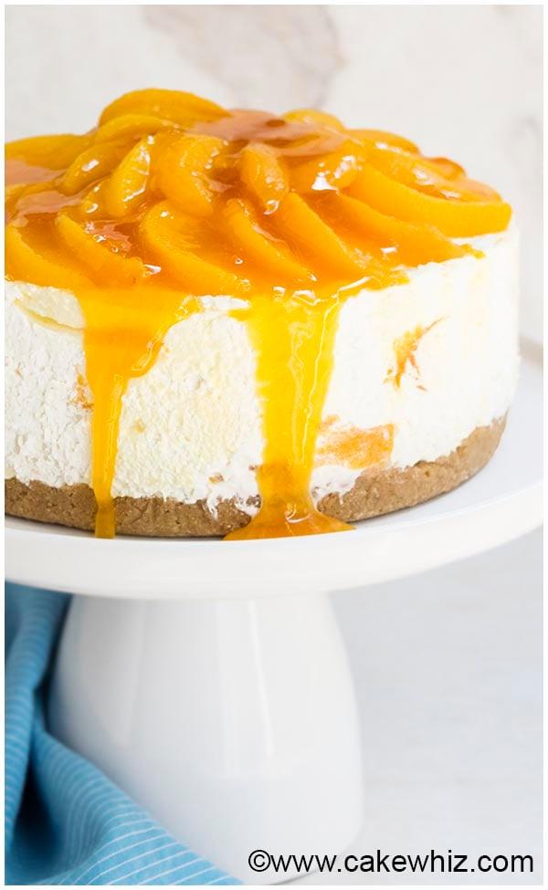 No Bake Peach Cheesecake Recipe 5