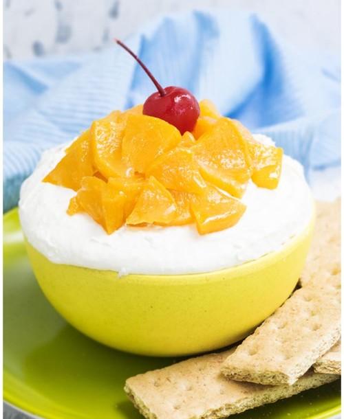 Peaches and cream dip