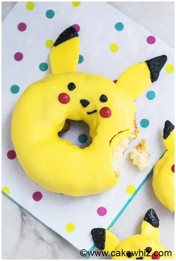 How to make Pikachu donuts from Pokemon 1
