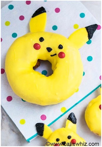 How to make Pikachu donuts from Pokemon