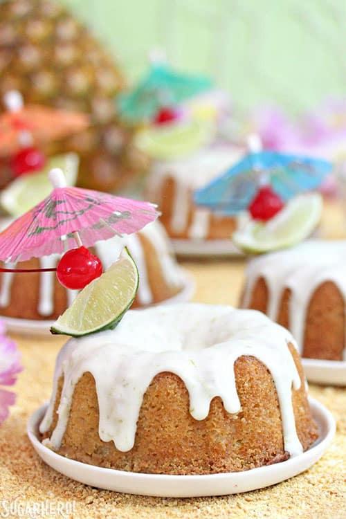 mini mai tai bundt cakes