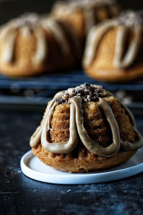 mini pumpkin toffee bundt cake