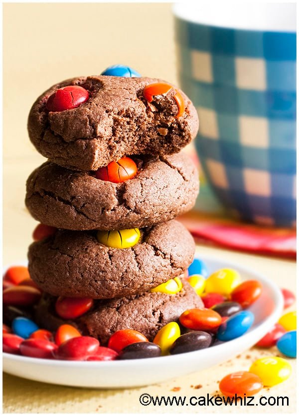 Cake Mix Chocolate M&M Cookies 2