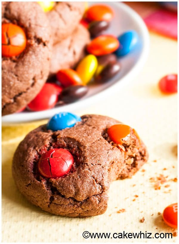Cake Mix Chocolate M&M Cookies 5