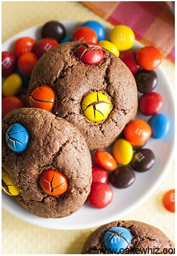 Cake Mix Chocolate M&M Cookies 6