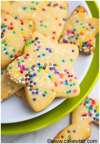 Funfetti Sugar Cookies (Cut Out Recipe)