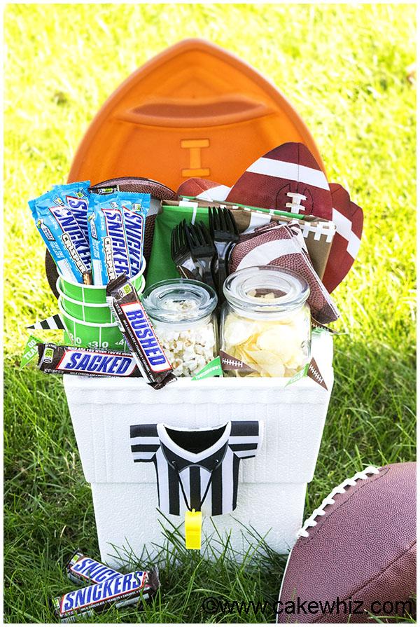 Homemade Football Gift Basket 1