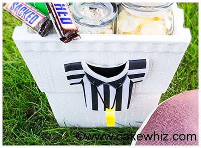 Homemade Football Gift Basket 10