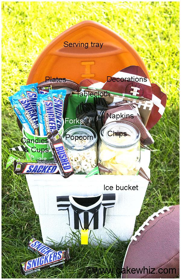 Homemade Football Gift Basket 7