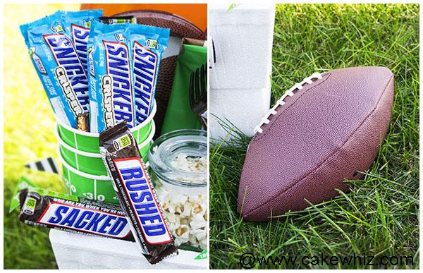 Homemade Football Gift Basket 8