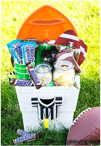 Homemade Football Gift Basket