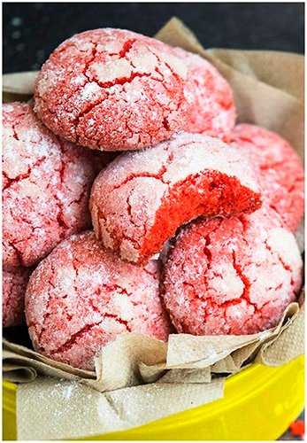 Classic Red Velvet Crinkle Cookies Recipe From Scratch (Easy)