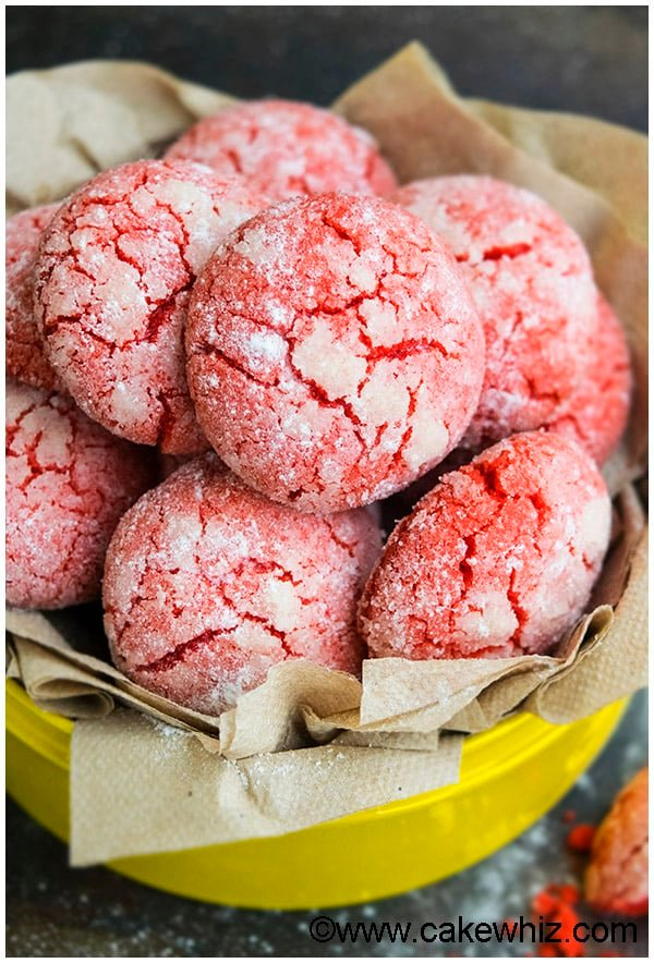 Red Velvet Crinkle Cookies Recipe 2