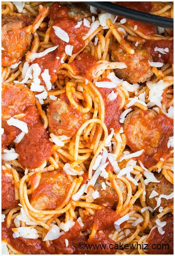 One Pot Spaghetti and Meatballs Recipe 1
