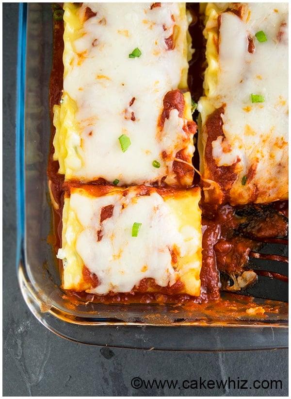 Spinach Lasagna Rolls Recipe (Spinach Lasagna Roll Ups) 5