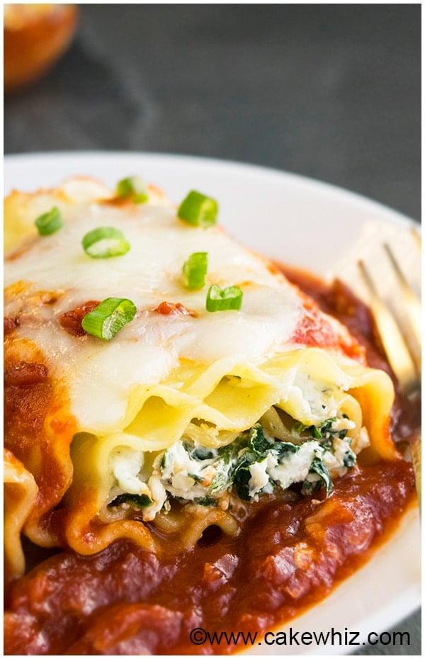 Spinach Lasagna Rolls Recipe (Spinach Lasagna Roll Ups) 8