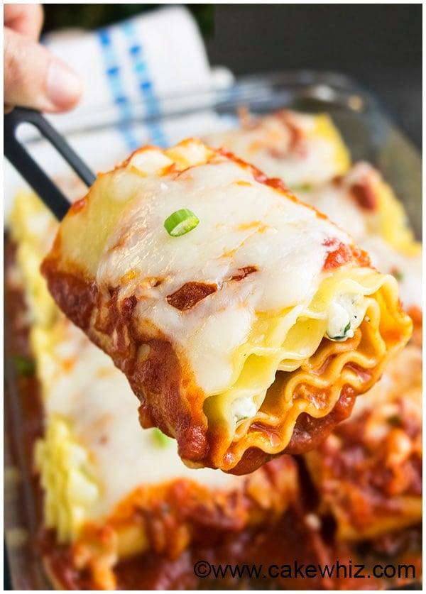 Spinach Lasagna Rolls Recipe (Spinach Lasagna Roll Ups) 9